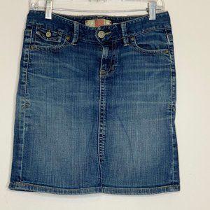 Old Navy Low Waist Stretch Jean Skirt Size 4